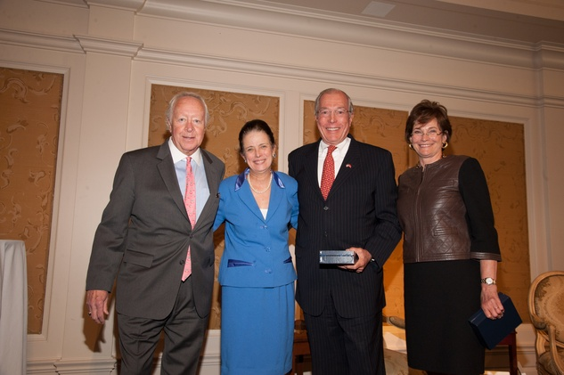 Mike McSpadden, from left, Dr. Peggy Smith and John and Bobbie Nau at the Foundation for Teen Health luncheon October 2014