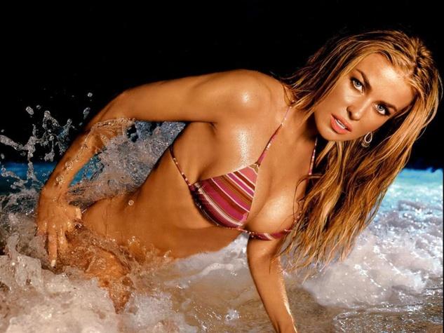 Carmen Electra in a bikini