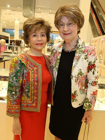 Barbara LeGrange, left, and Cora Sue Mach at Neiman Marcus' Stiletto Strut