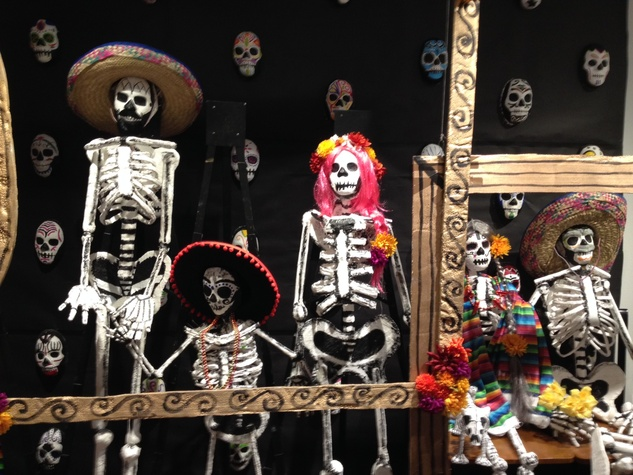 News, Shelby, Lawndale Dias de los Muertos, October 2014, skeletons 2