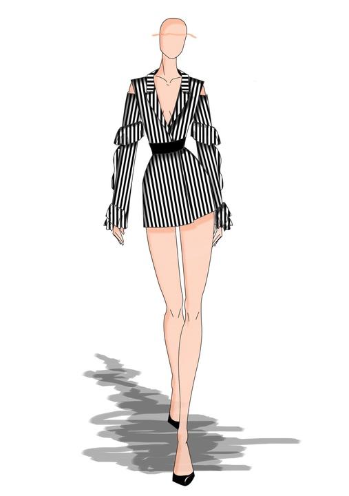 Hakan Akkaya designer inspiration sketch spring 2018