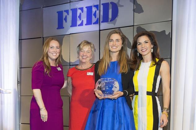 9371CC Liz Anders, from left, Adrian Ross, Lauren Bush Lauren and Nicole Zarr at The Kinkaid School Alumni luncheon March 2015