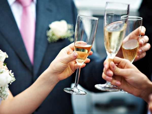wedding, toast, champagne