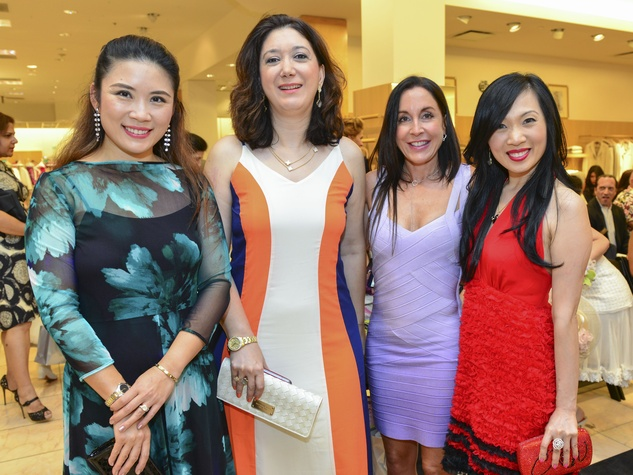 20 Christine Zhoo, from left, Gurur Denktas, Katya Dow and Connie Kwan-Wong at the International Mother's Day Soiree May 2014