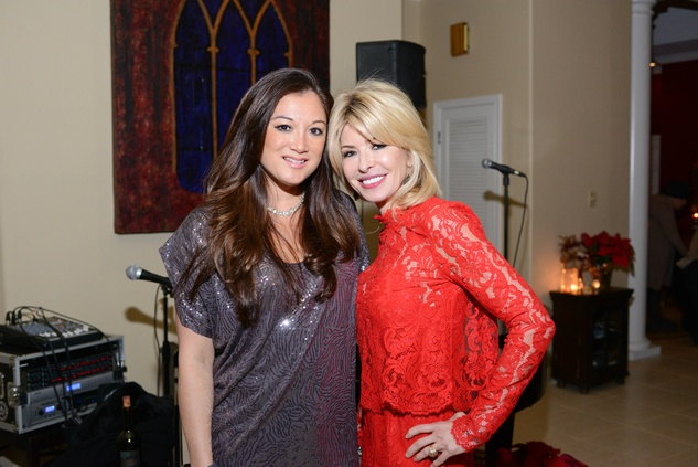 Angela Nichols left, and Nancy Marcus Golden at Bubba and Mark's Christmas Party December 2014