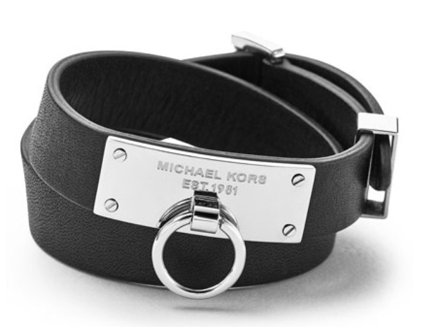 Michael Kors leather wrap bracelet