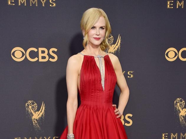 Nicole Kidman in Calvin Klein gown at Emmy 2017