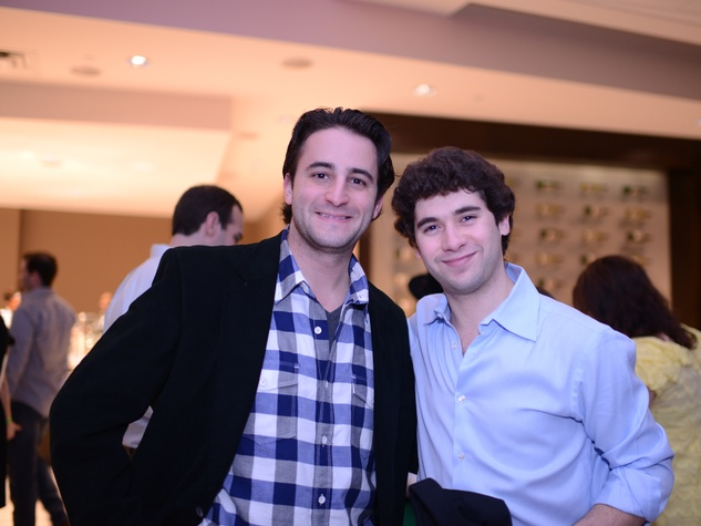 1948 Brad Wolf, left, and Isaac Malca at the Jewish Federation Young Adult Casino Night February 2014