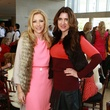 Rhonda Sargent-Chambers, with former luncheon chair Angela Choquette, saint valentine's day luncheon