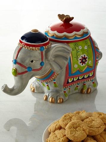 Elephant cookie jar at Neiman Marcus