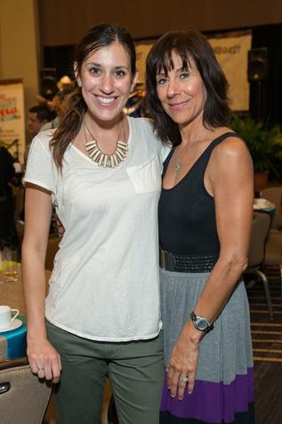 Adrianna Slusser, Elaine Pena at HEB Primo Picks party