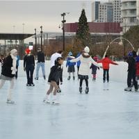 Ice skating at Klyde Warren Park