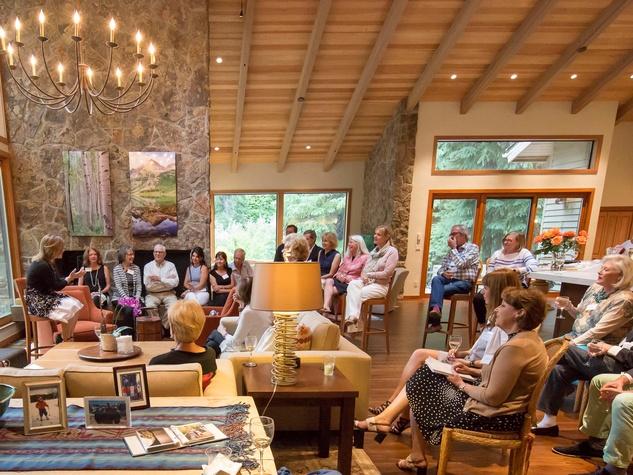 Houston PBS in Aspen, June 2016, home of Janet Clark