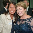 Kim Grace, left, and Karen Stall at the Touchdown for Teachers dinner November 2014