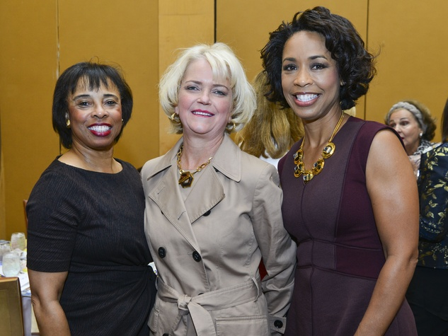 7 Phyllis Williams, Chree Boydston, Gina Gaston at the Dec My Room luncheon October 2013