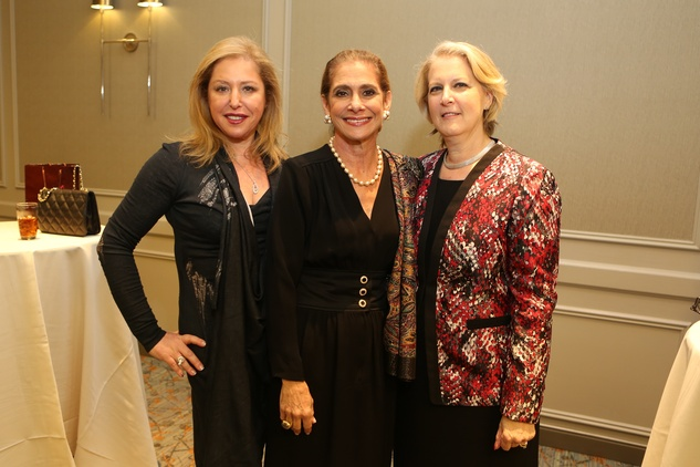 5 Inna Wizig, from left, Gail Klein and Pearl Mincberg Monk at the Guardian of the Human Spirit luncheon November 2014