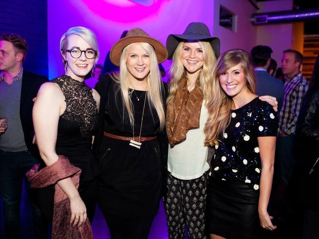 Mariah Cowley, Esther Havens, Ciara O'Modhrain, Claire Johnson at Need anniversary party