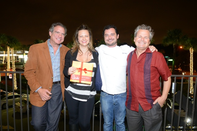 8 Michael Cordua, from left, Julie Soefer, David Cordua and John DeMers at the Cordua cookbook event November 2013