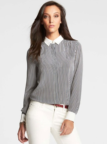 ann taylor Lane Striped Shirt