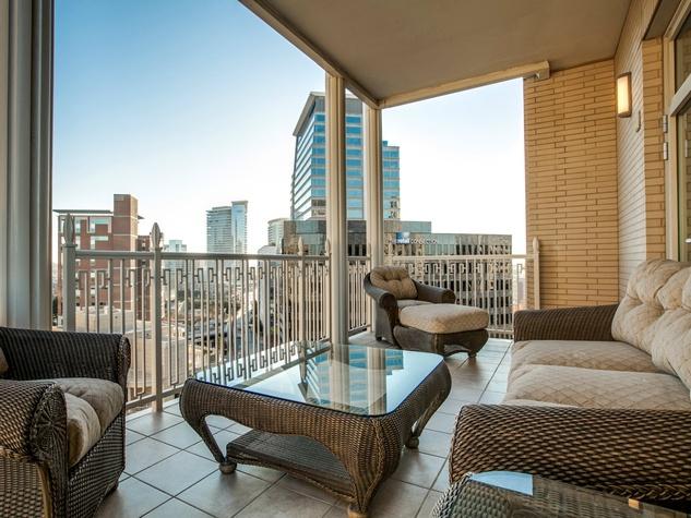 Balcony view from Ritz-Carlton #702 in Dallas