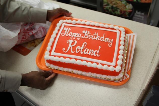 Whataburger Roland Maldonado birthday cake