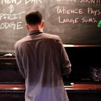 Capt. Foxheart's Bad News Bar & Spirit Lodge, April 2013, bartender, chalkboard