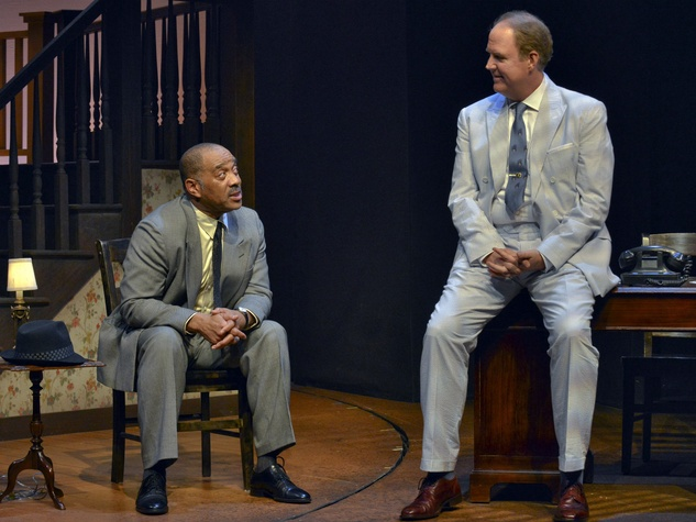 Hassan El-Amin and James Crawford in Dallas Theater Center's Driving Miss Daisy