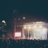 Fun Fun Fun Fest 2014 Day 3 Wiz Khalifa Blue Stage at Night