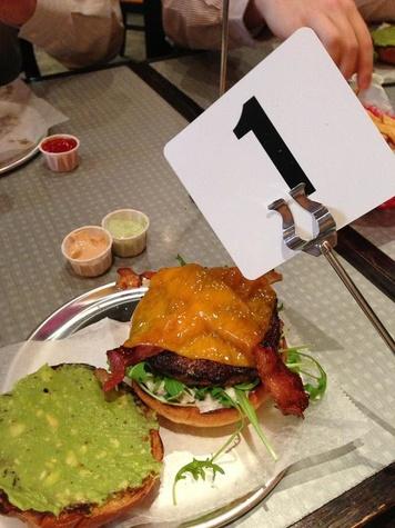 The Burger Guys, downtown, first burger, cheeseburger, October 2012