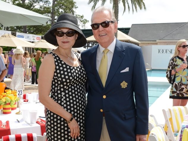 14 Laurie and Michael Wood at the River Oaks Tennis Tournament luncheon April 2015.jpg