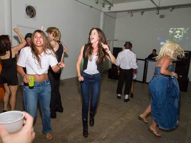 3270 Natalie Heredia, left, and Erin Felton at Party Like a Rock Star benefiting Planned Parenthood August 2014