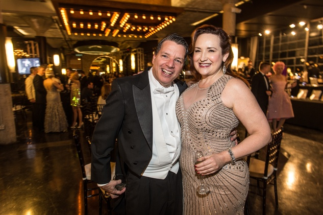 Kenn McLaughlin and Tara Simon at the Stages Repertory Theatre Gala April 2015 FULTON