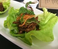 Kitchen 713 November 2014 shredded meat on lettuce