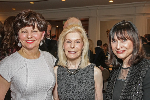 Beth Madison, from left, Frances Marzio and Lynne Bentsen at the Cornerstone Dinner February 2015