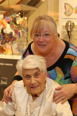 Holocaust Museum Houston Butterfly Project, March 2016, Naomi Warren (Survivor, Board Member), Mary Lee Webeck