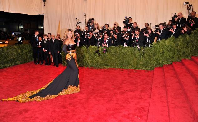 Beyonce at Met Costume Institute Gala May 2013