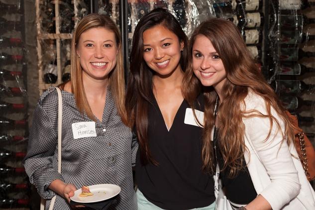 Sara Hansen, from left, Alicia Hou and Alexandra Barney at Casa de Esperanza Young Professionals party July 2014