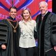 1010 Cristo Rey Jesuit graduation June 2013 Father T.J. Martinez, Nancy Kinder, Rich Kinder