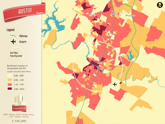 Austin youth population map