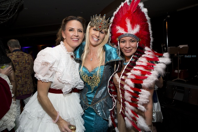 Aimee Coates, from left, Laurie Krohn and Nicole Trevino at The Bash A Halloween Happening October 2014