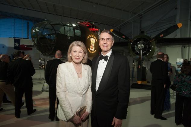 Lone Star Flight Museum gala 5/16 Gayle Bentsen, Lloyd Bentsen