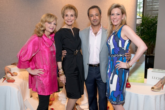 37 Kim Padgett, from left, Leisa Holland Nelson, Hector Villarreal and Mauri Oliver at the Boys & Girls Harbor Fashion Show April 2015