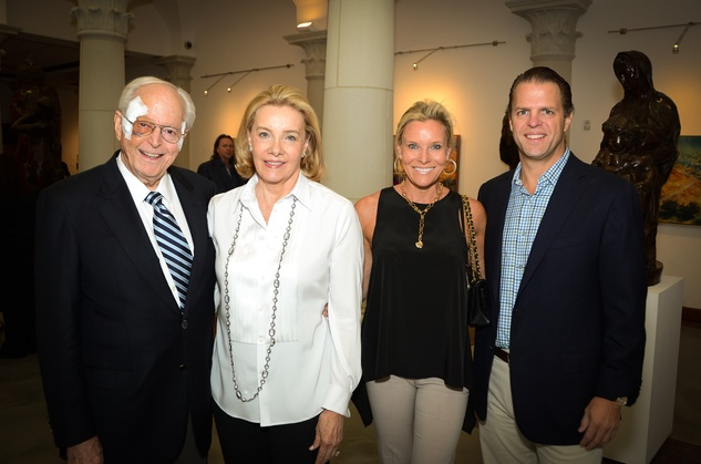 417 John and Brenda Duncan, from left, Wendy Poston and Bill Payne at the Barbara Hines Art Opening in Dallas October 2014