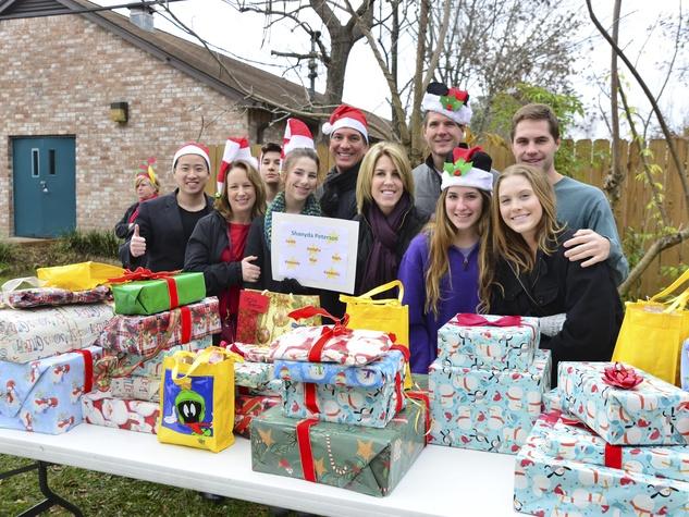 6 Santa's elves at Mission of Yahweh's gift-giving celebration December 2013