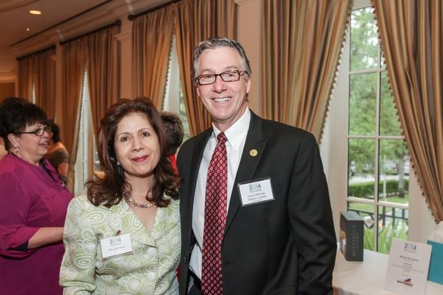 7762 Giti Zarinkelk and Stephen Costello at the Mayor's Literacy Breakfast May 2014
