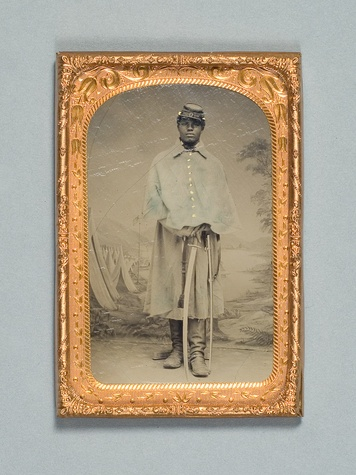 News_HMNS_Civil War_African American Cavalryman