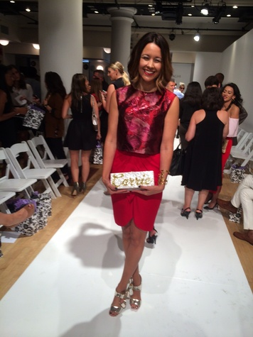 Carrie Colbert at Amir Taghi New York fashion week show