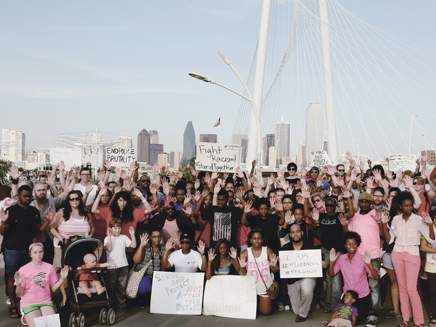 Michael Brown protests in Dallas