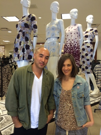Suno designers Max Osterweis and Erin Beatty at Saks Fifth Avenue April 2014