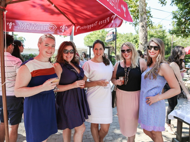 Tribeza Style Brunch 2015 at Justine's Brasserie Hannah Casparian Kelly Stocker Kate McGee Katie Friel Sofia Sokolove